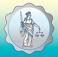 Justitia mit dem Richtschwert
